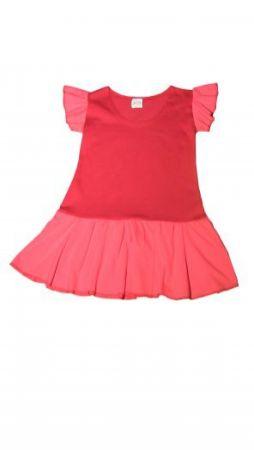 Dětské šaty s rukávem a volánky SANDRA
